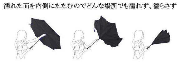 2_【CarBoys】逆さ傘(逆折り式傘)